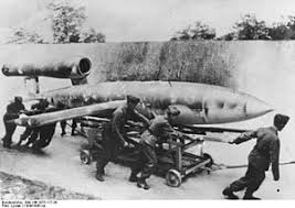 Nazis loading a V one bomb