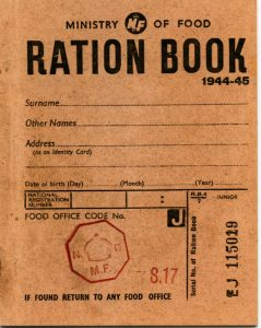 ration book during the war