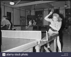 wartime London table tennis